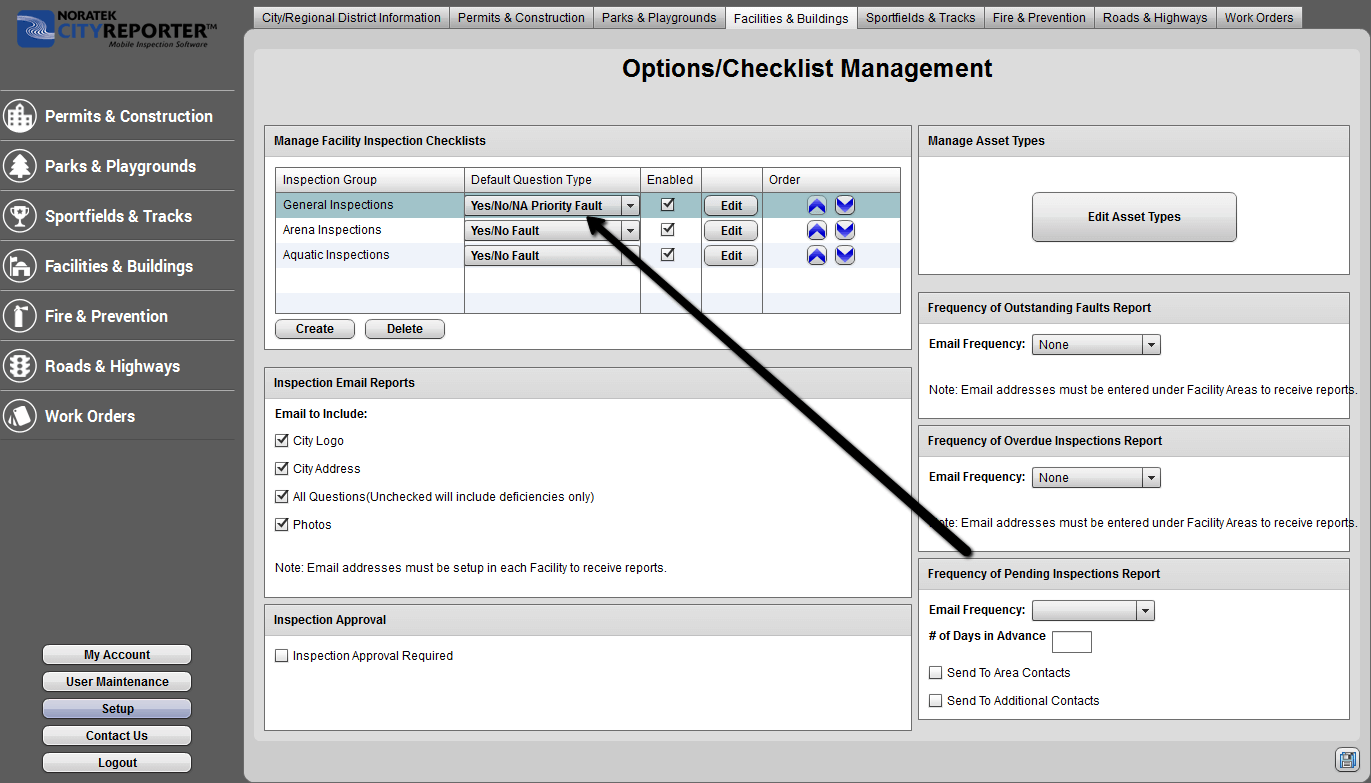 How To Change The Default Question Type   CityReporter