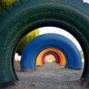 Playground tires